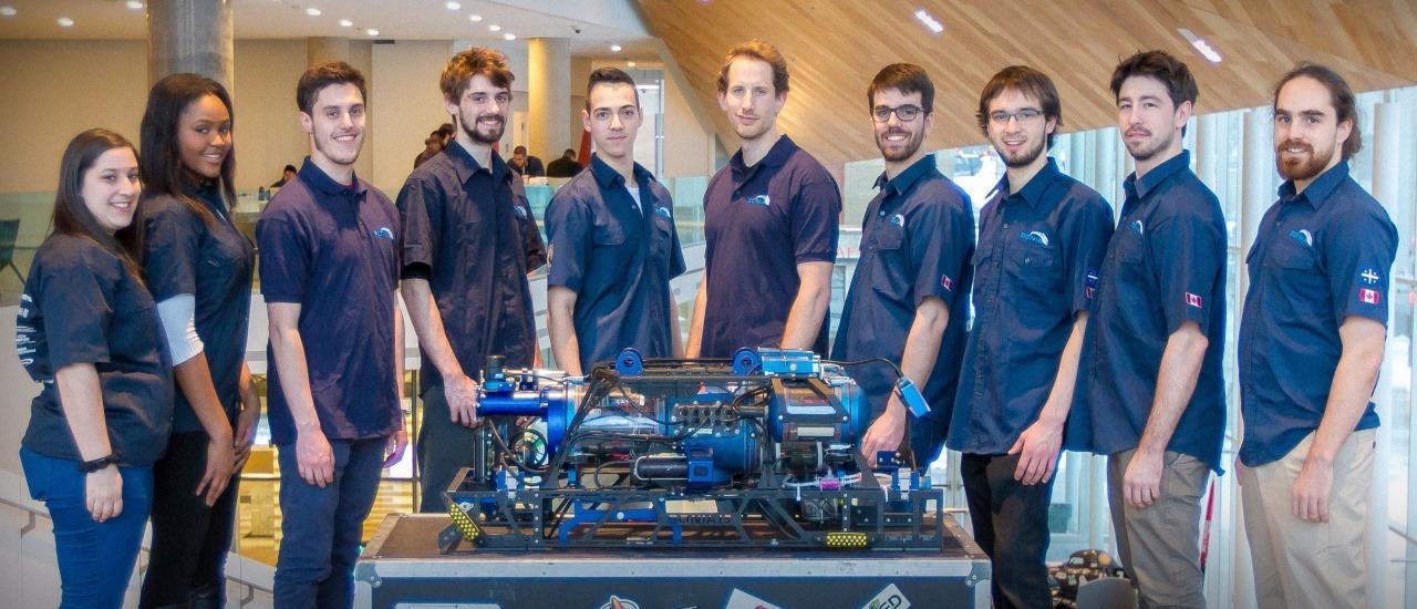 Team SONIA's Autonomous Underwater Vehicle dives with Kvaser