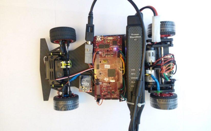 MathWorks uses a Kvaser Blackbird for race car telemetry